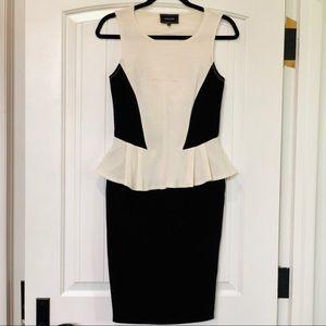 River island black and white dress